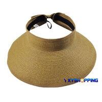 Women Foldable Floppy Straw Roll up Wide Brim Hat Sun Caps Beach Visor Fashion