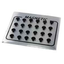 24 Pieces Magnetic Studs Earrings Rhinestone Magnet Ear Studs for Men Women Fake