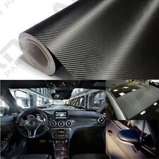 20x100cm 3D Carbon Fiber Black Car Sticker Protector DIY Decorate Sticker
