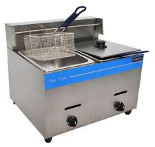 UNIWORLD Stainless Steel Liquid Propane Gas Fryer with Dual Basket BTU 25000 CE