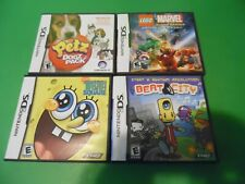 4 Nintendo DS Games Cartridges w. CASES BUNDLE LOT