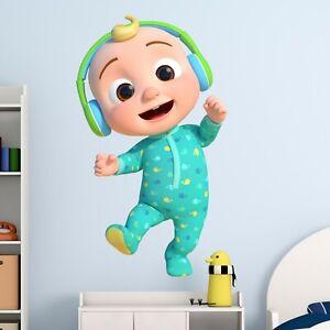 Cocomelon JJ Wall Sticker Kids Baby Nursery Rhymes Bedroom Decal Gift Boys Girls