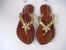 MYSTIQUE Clear Beyond the Sea Crystal Starfish Sandals Thong Flip Flop Size 6