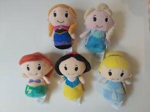 5 itty bitty princess bulk Cinderella, Elsa & Anna, Ariel, snow white