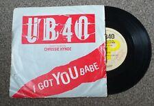 "translucent brown UB40 & CHRYSSIE HYNDE i got you babe 7"" VINYL RECORD DEP 20"