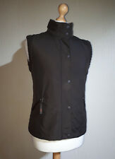Per Una Marks & Spencer Gilet Ladies Size L Brown Plain Front Knitted Back