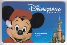 DISNEY PARIS PASS CARTE / CARD ..  ADULTE MICKEY CHATEAU +TROU SPEOS  17/12/99