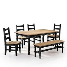 Solid Wood Dining Set (Rainbow Color)