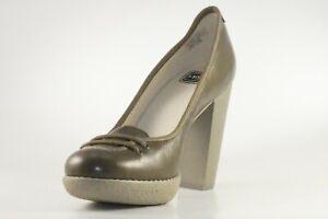 Lacoste Missie Gloss Leder Damen Schuhe Pumps High Heels braun RARITÄT WOW SALE