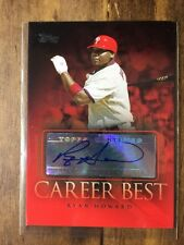 2009 Topps Career Best Autographs Ryan Howard #CBA-RH