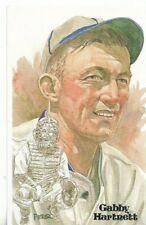 Gabby Hartnett Perez-Steele Hall of Fame Art Postcard Chicago Cubs #76