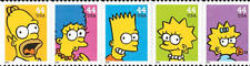 2009 44c The Simpsons Television Show, Strip of 5 Scott 4399-4403 Mint F/VF NH