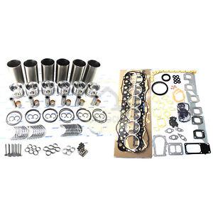FE6 FE6T FE6TA Engine Rebuild Kit w/ Valves For Nissan Forklift Trucks Bus 6.9L