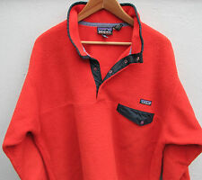 Vintage 1990's Patagonia Synchilla Men's Red Snap-T Pullover Fleece Jacket Large