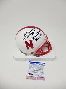 Grant Wistrom Nebraska Huskers Riddell  Signed Autographed Mini Helmet INSCRIBED
