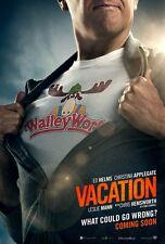 Vacation Film Poster - Ed Helms : 27.9cm x 43.2cm (2015)