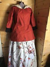 Colonial 18th Century Rev War Georgian Williamsburg Shortgown Linen Petticoat