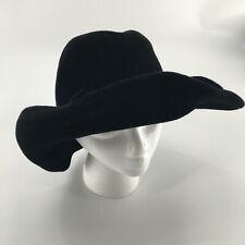 Vintage Joe Bill Miller Women's Black Wool Western Style Hat Made In Usa