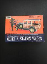 """Vtg 1975 GABRIEL MODEL """"A"""" STATION WAGON METAL KIT #4858"""
