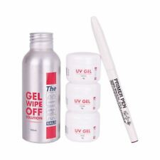 The Edge Gel UV Prueba Kit Profesional 5 Pieza Para Uñas Postizas Esmalte en Gel