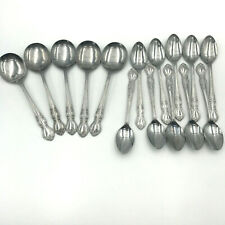 Nasco Elizabethan II 15 Pc Stainless Steel Flatware 5 Gumbo and 10 Teaspoons