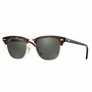 RayBan Clubmaster Sunglasses - Tortoise Green Classic G-15 - 3016 W0366 49-21