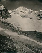 Photoglob, Suisse, Wen zum Eigergletscher  Vintage photomechanical print. Switze
