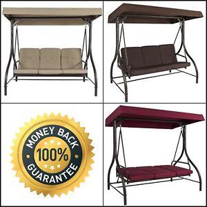Converting Outdoor Swing Canopy Hammock Seats 3 Patio Furniture Shade Bed Yard .