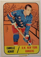 Camille Henry New York Rangers Topps 26 1967-68