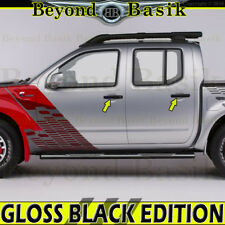 Fits 2005-2018 NISSAN FRONTIER GLOSS BLACK Door Handle COVERS No PSK No SmrtK