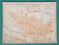 "TURKEY Bursa Broussa City Plan - 1914 Start of WWI Map 6 x 8"" (15 x 20 cm)"