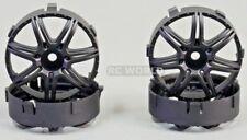 Tetsujin MARGUERITE RC Car Wheels BLACK Adjustable Offset 3-6-9mm -4 RIMS