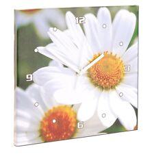 1 Wanduhr Wanddeko Küchenuhr Wohnzimmer Blume Blüte Margerite Wandbild Analog