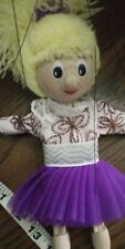 New ListingAntique high quality Wooden Ice skating girl String Puppet .