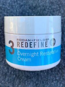 NEW RODAN + FIELDS REDEFINE #3 PM OVERNIGHT RESTORATIVE CREAM 30 ML / 1 OZ