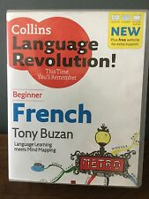 BNIB Collins Beginner French With Tony Buzan 2 Audio CDs & Coursebook RRP £19.99