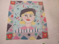 """cara a cara 'Jane Jones gráfico bordado estilo libre (solamente)"