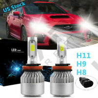 4Side H11 LED Fog Light Bulb 6000K 100W Super Bright For DODGE Durango 2014-2019