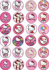 24 HELLO KITTY Party Birthday Fairy Cup Cake Toppers Wafer/Rice Paper Edible
