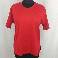 Jaeger Red Crew Neck Tee - Size Large - Made in Italy Red Top