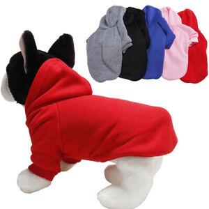 Puppy Hoodie Coat Cute Solid Color Chihuahua Sweatshirt Warm Jacket Pet Clothing