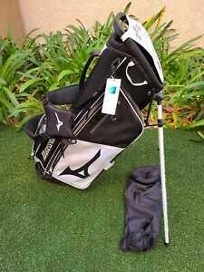 Mizuno 3R-D3 Stand Bag, 5 Way, Black / White, Brand New!