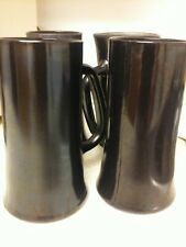 Playboy Bunny Black Matte Glass Mug/Steins. Price is for all 4 there a Set.