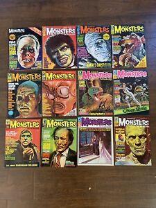 12 Famous Monsters of Filmland Warren 34 36 50 53 54 55 57 58 59 60 61 '69 YB