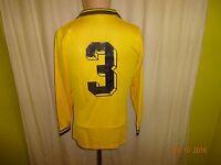 Borussia Dortmund erima Langarm Spieler/Matchworn Trikot 1978/79 + Nr.3 Gr.M