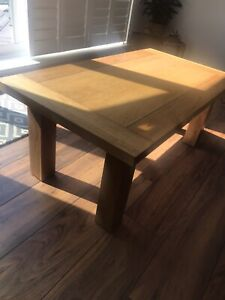 solid wood coffee table used