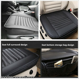 Portable PU Leather +Bamboo Charcoal Car Truck Seat Breathable Pad Cushion Cover