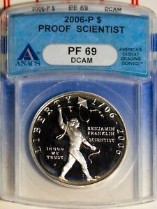 2006-S $1 Franklin The Scientist Silver Dollar PF 69 DC ANACS # 1499320 + Bonus