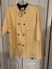 Happy Chef Lightweight Chef Coat #505 Large Yellow & Black Quickship🚀