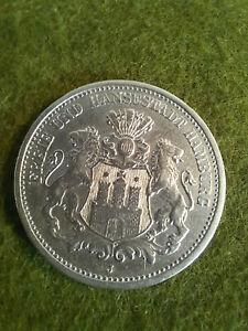 2 Mark 1901 Hamburg Kaiserreich Silber